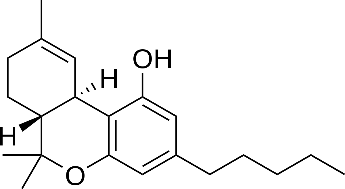THC molecule types of cannabinoids CBD global